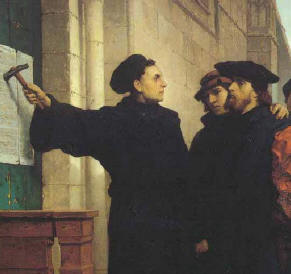 Martin Luther's posting of the 95 Theses